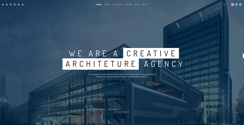 thèmes WordPress pour créer un site web d'architecte Fatmoon