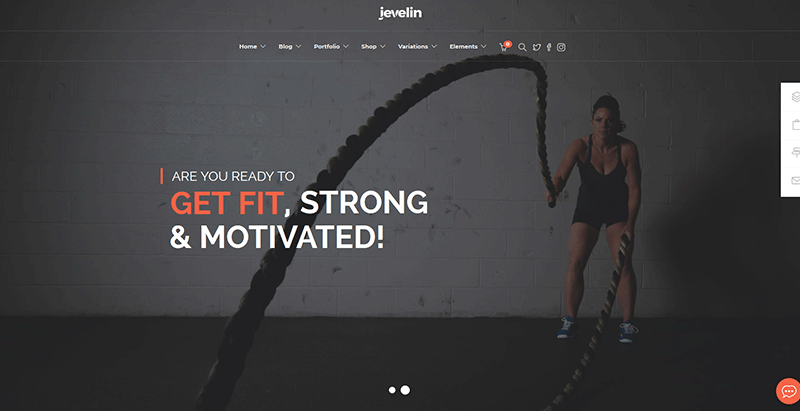 Jevelin themes wordpress creer site internet club fitness sport gym