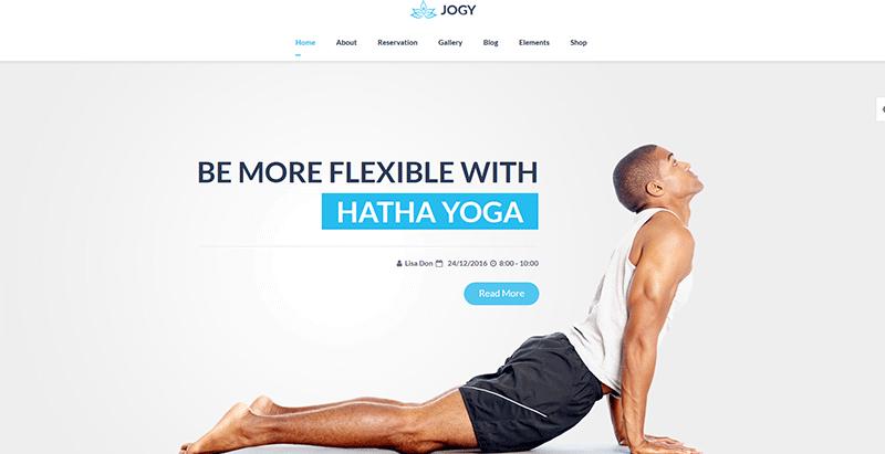 Jogy themes wordpress creer site internet club yoga
