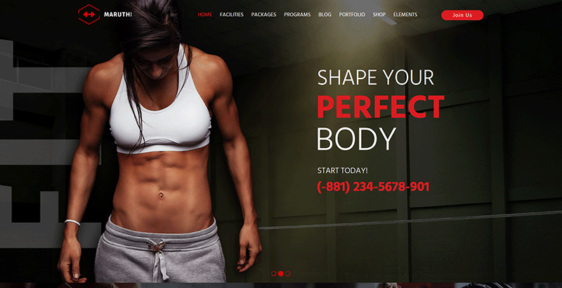 Maruthi themes wordpress creer site internet club fitness sport gym