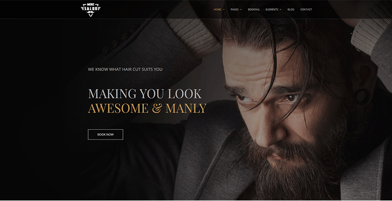 Menzsaloon themes wordpress creer site web salon coiffure barber hairbarber
