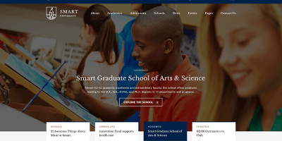 Smarty Themes Wordpress Creer Site Web Ecoles De Formation
