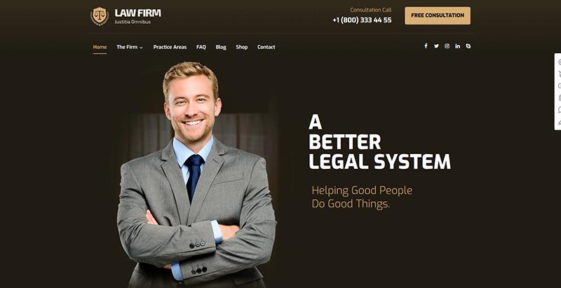 Xtra themes wordpress creer site internet procureur loi justice