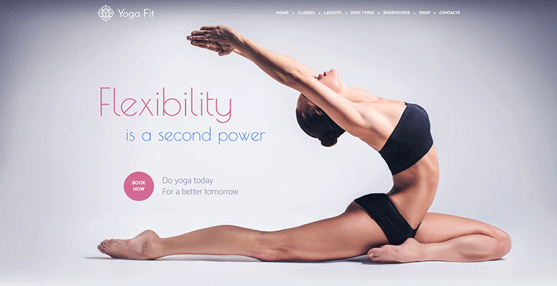 Yoga fit themes wordpress creer site internet club yoga