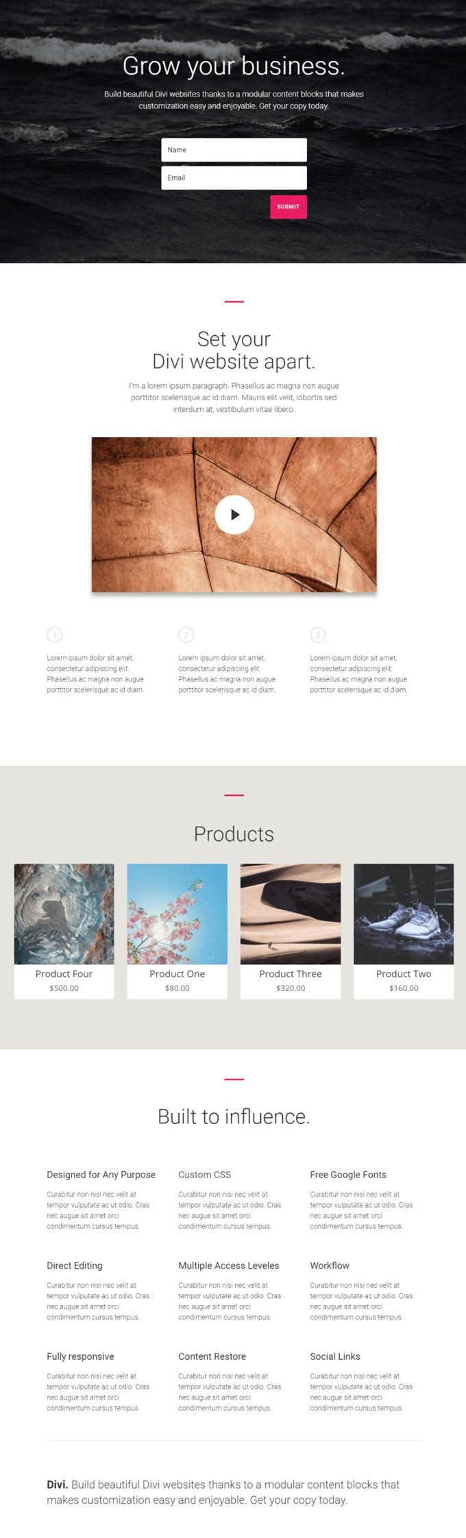 exibir produtos em uma página de accel divi.jpg