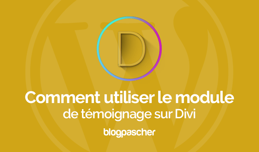 How to use the testimonial module on divi