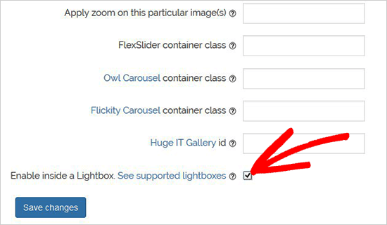 configuration lightbox WordPress.png