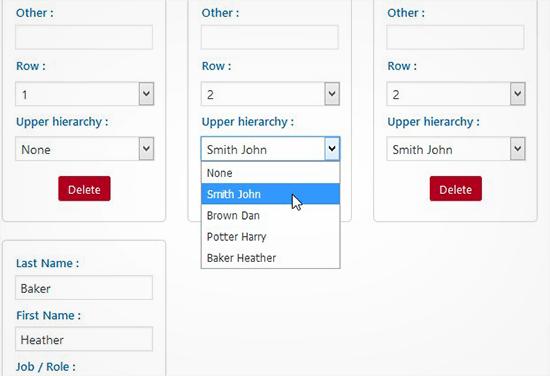 créer une structure hierarchique sur l'organigramme.png