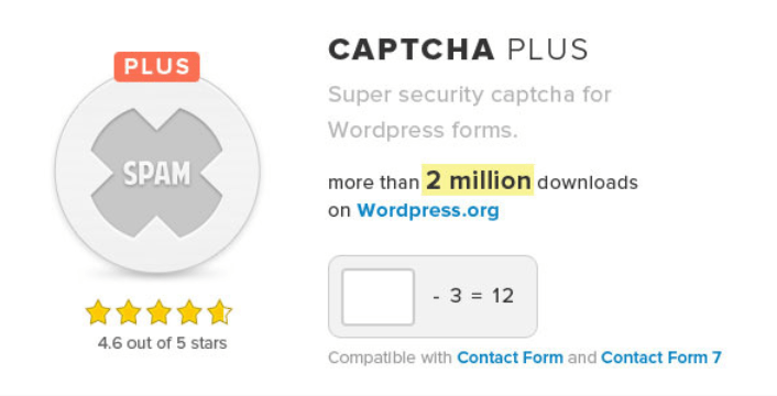 Captcha plus plugins wordpress creer formulaire connexion login