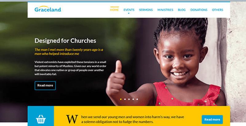 Free charity and fundraising wordpress theme graceland