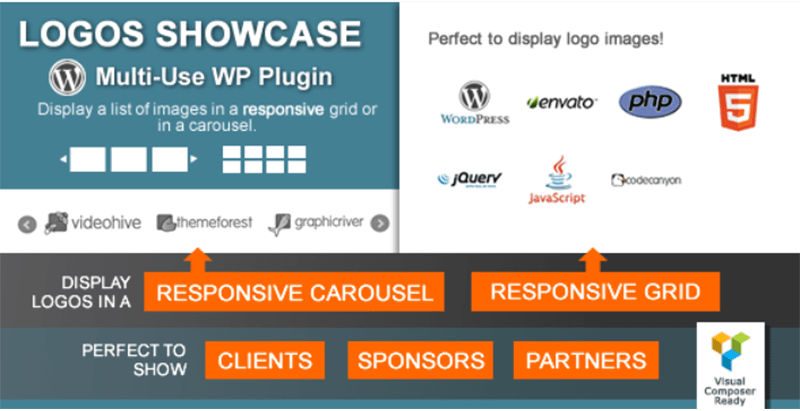 Logos showcase multi use responsive wp plugins wordpress creer sliders votre site web diaporamas diapositive