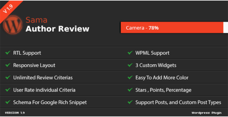 Sama author review wordpress plugin recueillir avis utilisateurs