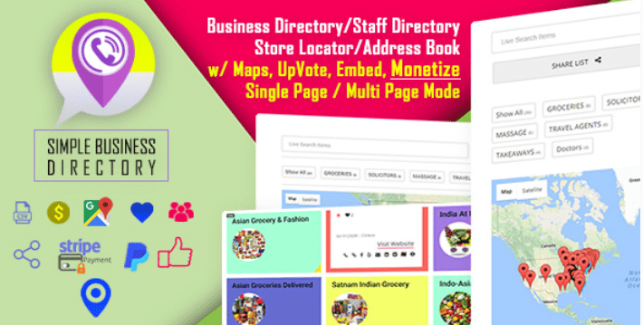 Simple business directory