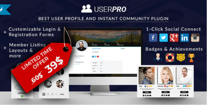 Userpro plugins wordpress creer formulaire connexion login