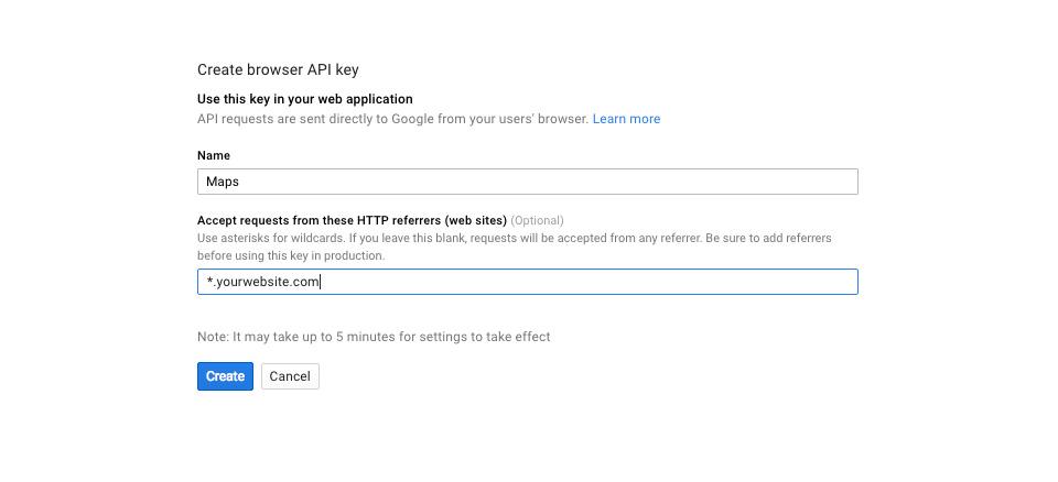 thêm một khóa API vào một project.jpg