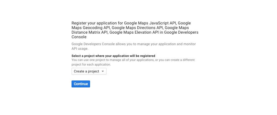 criar uma chave de API do Google