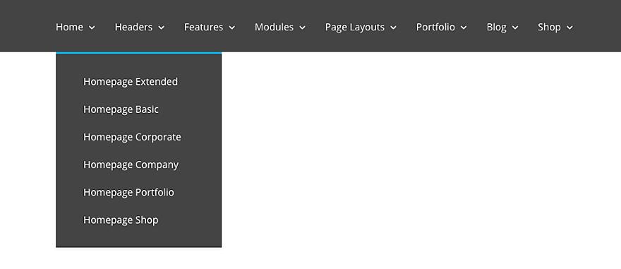 Full width menu divi