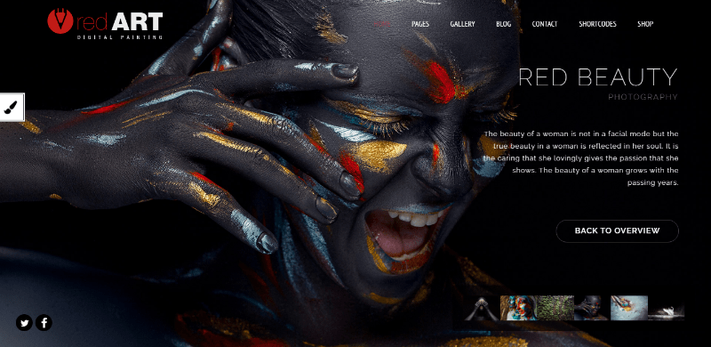 Redart themes wordpress creer site web art