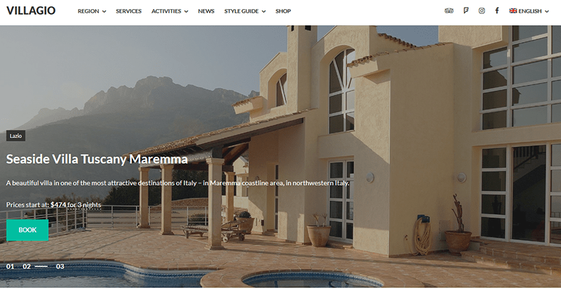 Villagio real estate theme wordpress immobilier