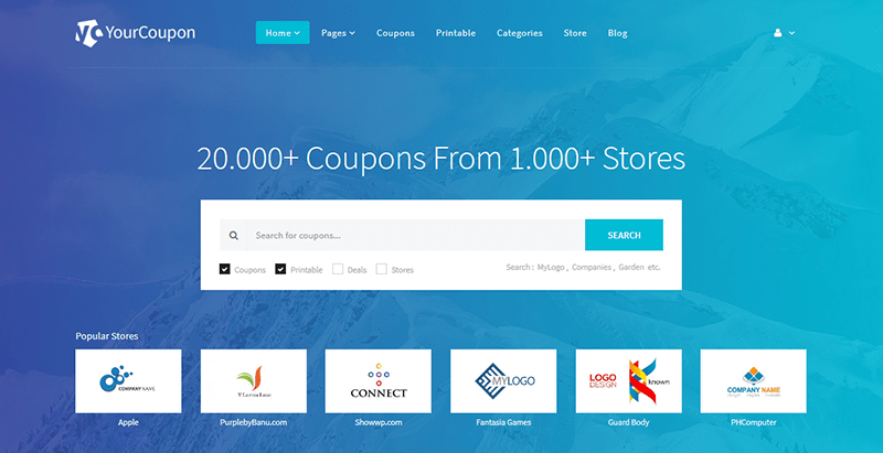 Yourcoupon themes wordpress creer site web annonces listing annuaire directory