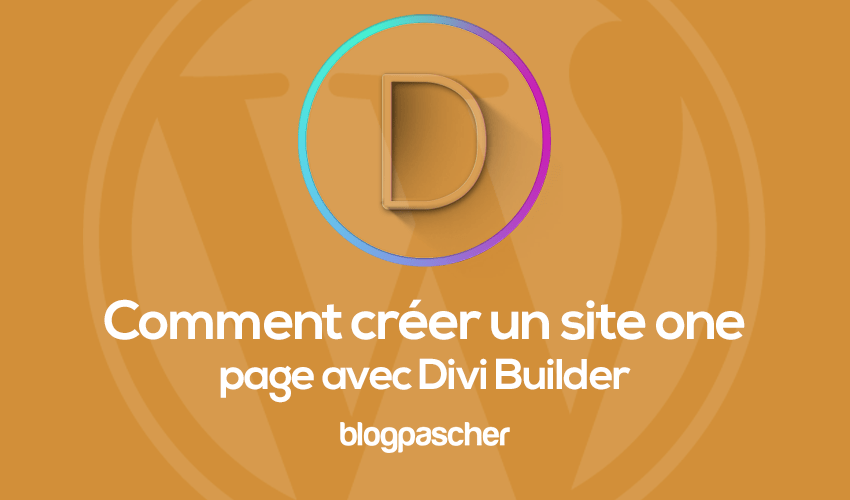 How to create a one page site with divi builder