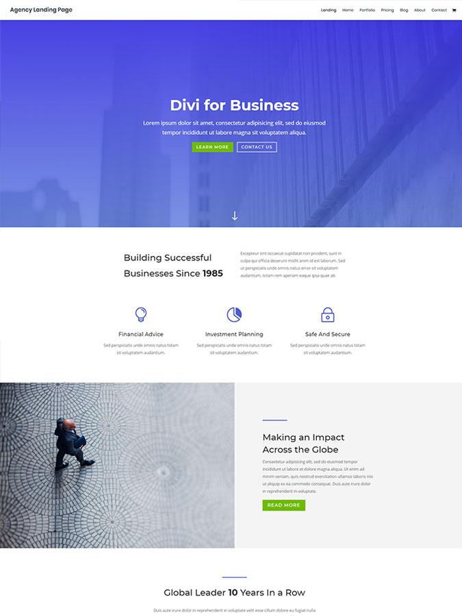 Thème wordpress divi création site internet entreprise société business