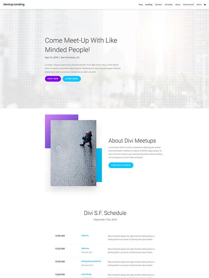 Thème wordpress divi template créer site rencontre discussion réunions