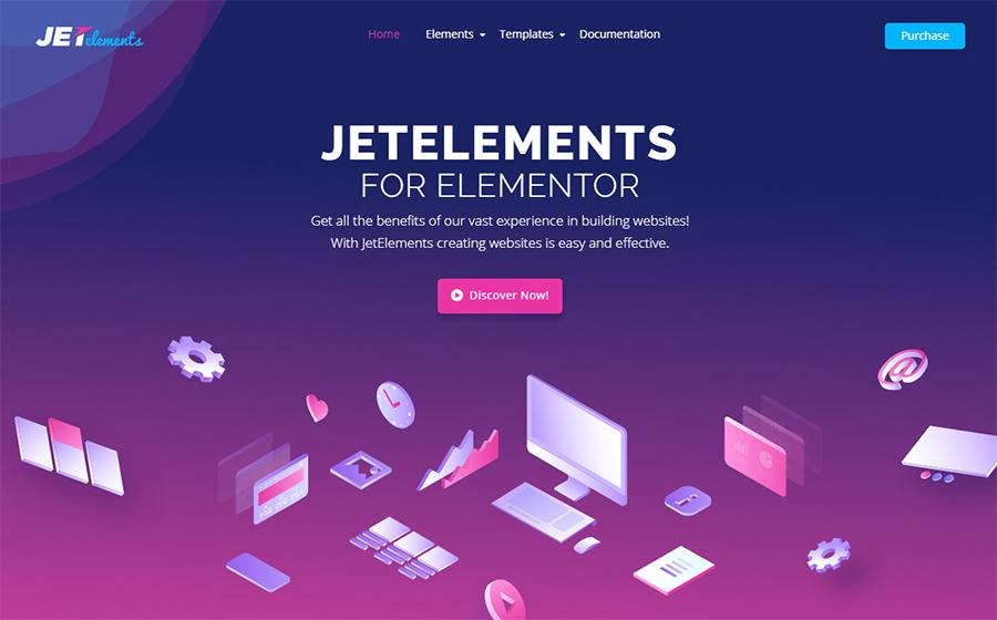 JetElements - Addon para Elementor Builder WordPress Plugin Page
