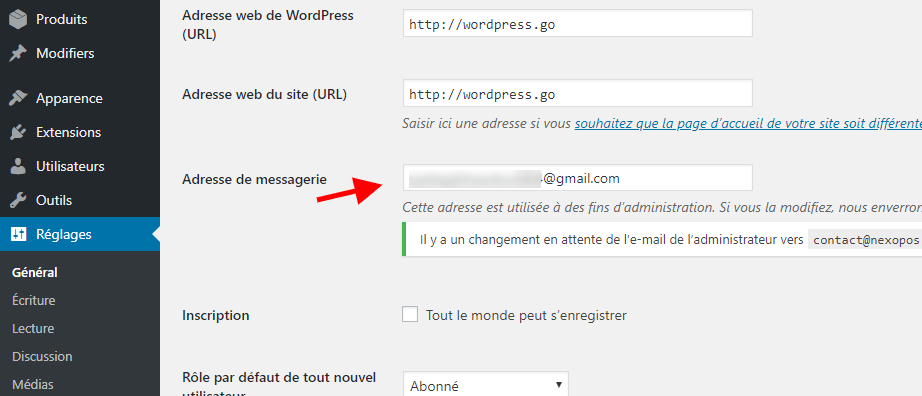 modifier lemail wordpress.png