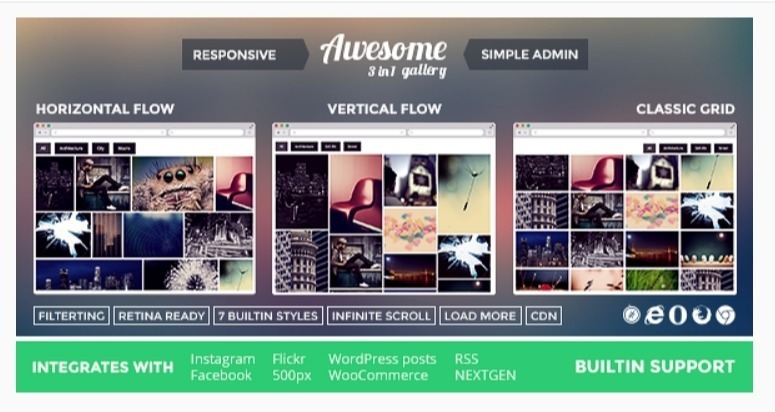 Awesome Gallery - Instagram Flickr Facebook galleries on your site.jpg