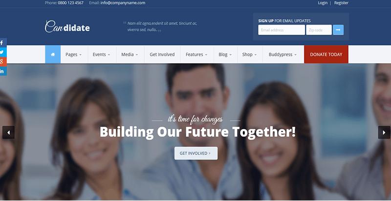 Candidate – political nonprofit wordpress theme awesome political nonprofit wordpress theme