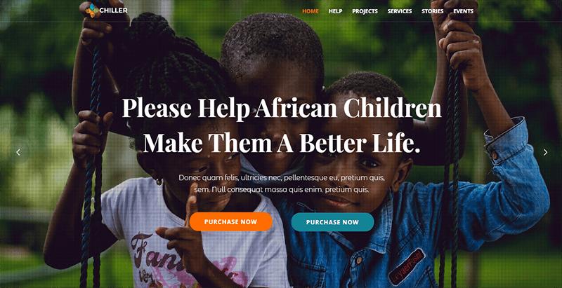 créer un site web d'ONG - Chiller