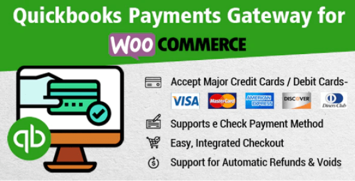Quickbooks payments gateway for woocommerce plugin wordpress