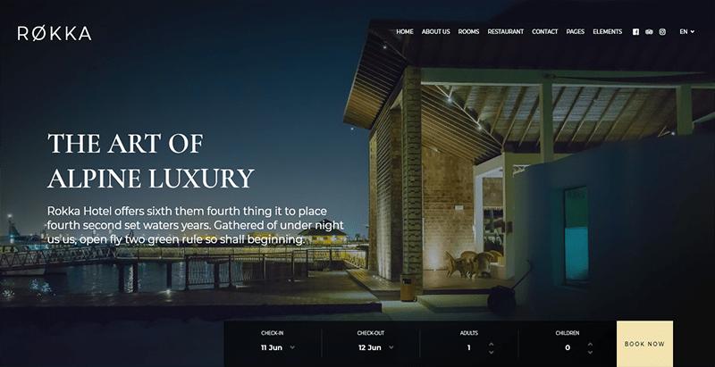 Rokka theme wordpress creer site web hotel