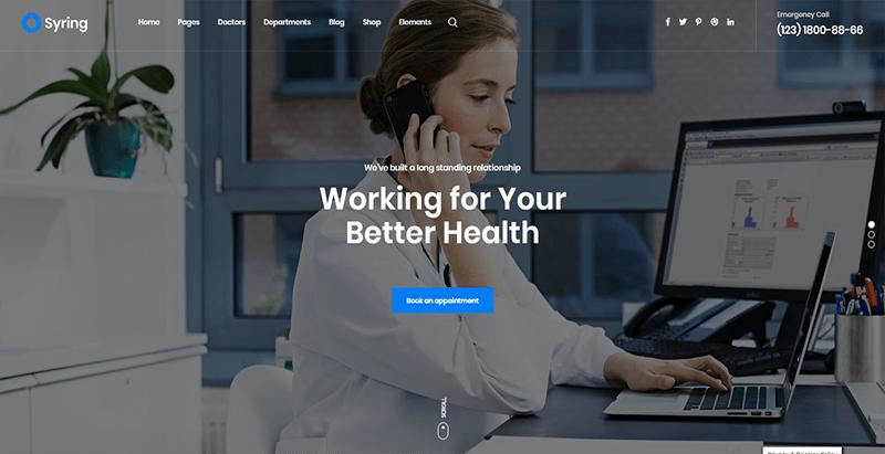 Syring Theme Wordpress Creer Site Internet Clinique