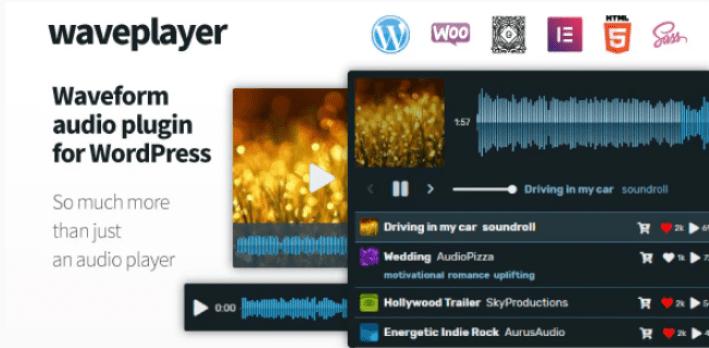 Waveplayer plugins wordpress premium ajouter lecteur audio