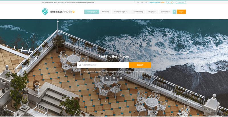 Businessfinder Theme Wordpress Créer Site Web Annonce Classée Gratuites