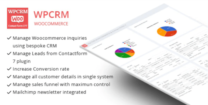 Wpcrm crm for contact form cf7 woocommerce plugin wordpress