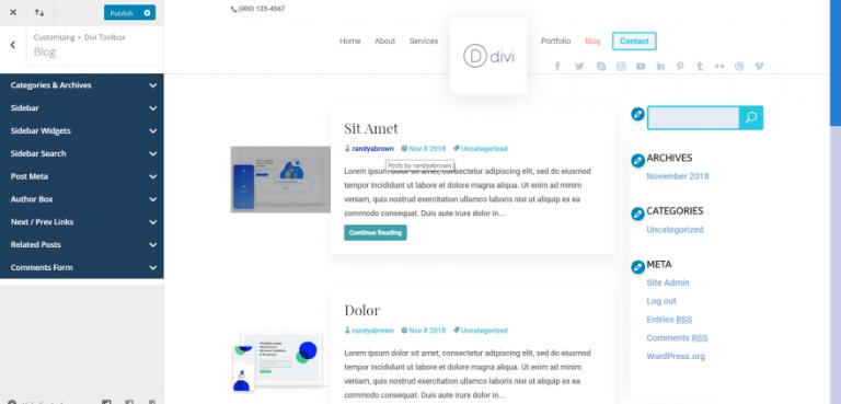 résultat personnalisation interface blog divi.png