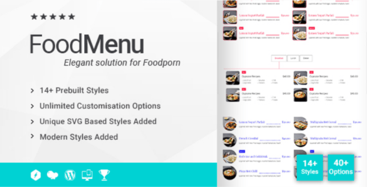 Ultimate Food Menu Addon for WPBakery Page Builder formerly Visual Composer