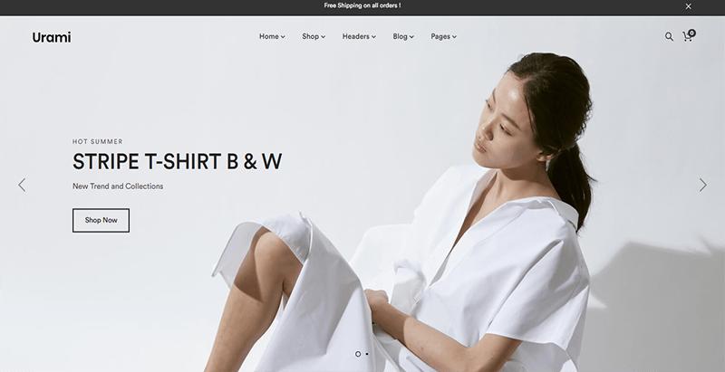 Urami thème wordpress premium creer boutique en ligne