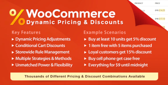 Woocommerce dynamic pricing discounts plugin wordpress