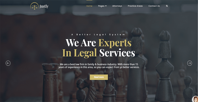 Justly theme wordpress creer site web cabinet avocat