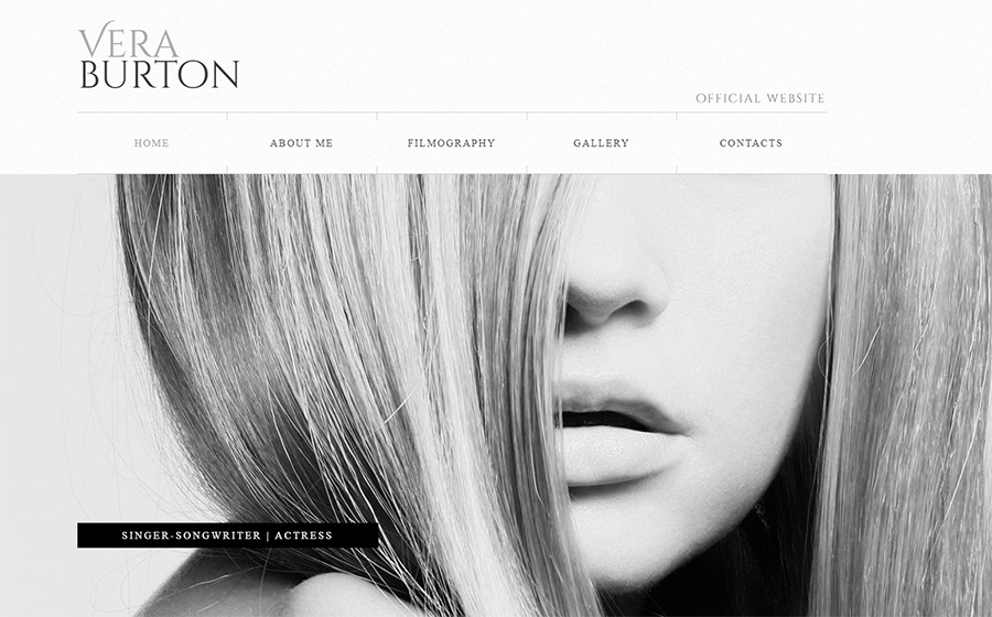 Constructeur de site Web d'actrice | Modèle Moto CMS 3 adaptatif