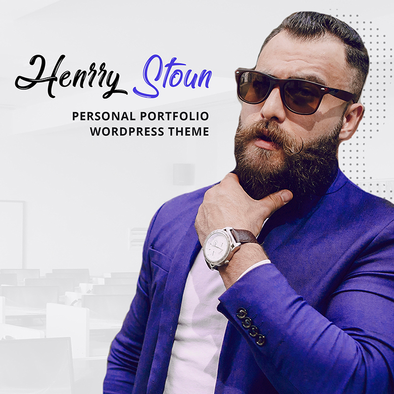 Henry Stoun - Tema de WordPress para sitio web personal