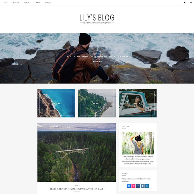 Lily - Tema de Blog de WordPress con estilo