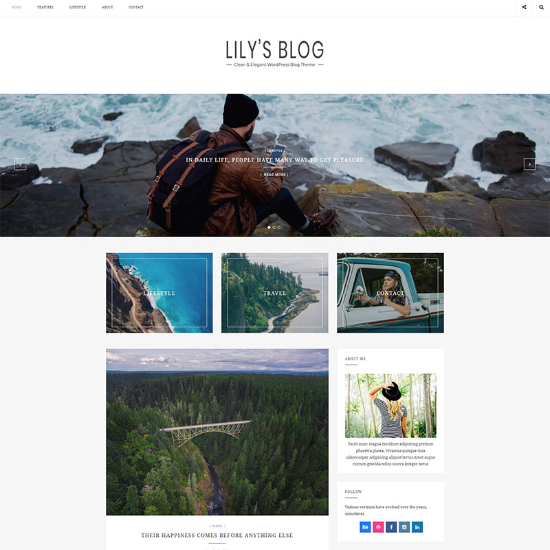 Lily - Tema de Blog de WordPress con estilo