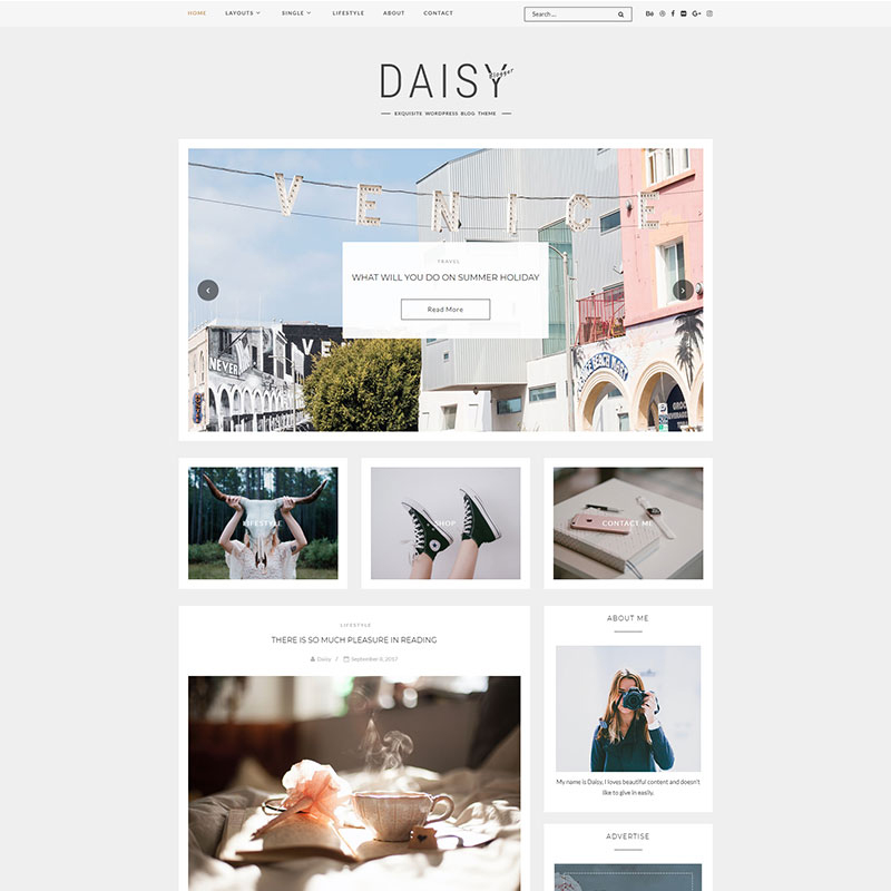 Daisy - Exquisito Blog Tema WordPress
