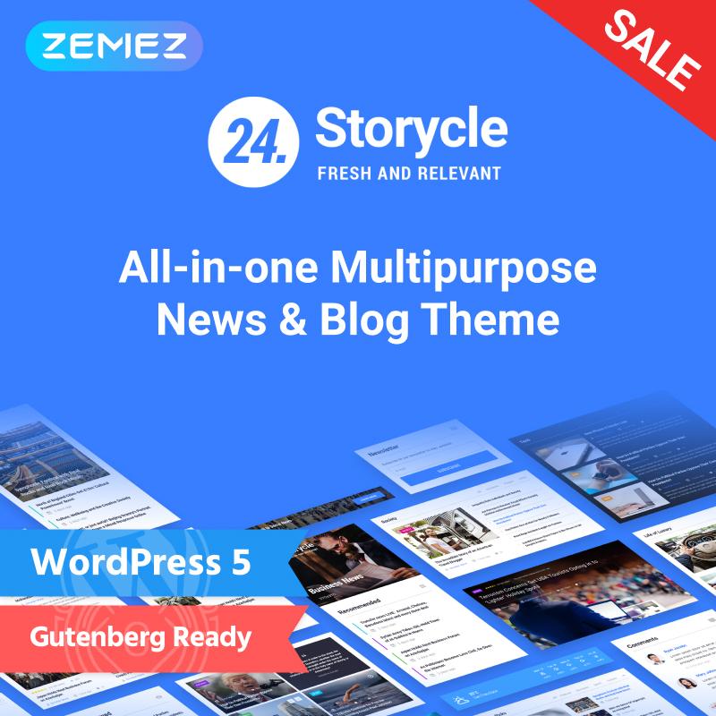 24.Storycle - Многоцелевой новостной портал Elementor WordPress Theme
