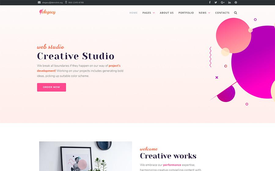 Elegacy - Thème WordPress Elementor créatif